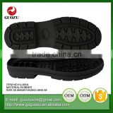 Black color flexible working labour rubber outsoles