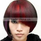 Alibaba hot selling human hair clip bangs with fashion color