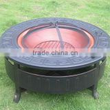 Outdoor fire pit for bbq cast iron outdoor fire pit/garden treasures fire pit/metal fire pit mesh/2015 new product