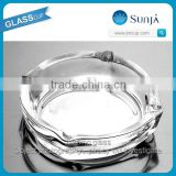 small size glass ashtray portable smoking accessories anhui factory price good quality edged clear glass ashtray