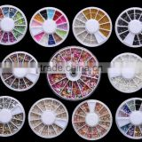 Various Gems 3D Crystal Nail Art UV Gel Art Sticker Decoration Tips Kits Wheels