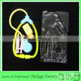 Transparent plastic blister pack display for toy