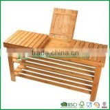 Fuboo bamboo storage shoe rack ,bench shoe rack with 3 tier                                                                                                         Supplier's Choice