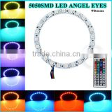 90mm 60mm 40mm semi circle Colorful red blue green orange angel eyes for E46 OEM Angel eyes led ring light
