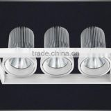 CE ROHS super bright cob leds ceiling downlight AR111 three head 3x45w led grille lamp