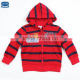 (A3205)Red 2-6Y Nova kids clothes stripe kids zipper hoodie jacket children boys hoodie wholesale kids apparel