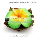 floating frangipani flower candles
