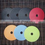Wet Polishing Pads 4 inch (100 mm) Straight Teeth Flexible Diamond Nylon Cloth Sanding Discs for Granite Marble Polishing