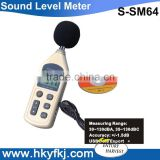 large LCD display digital decibel sound level meter tester 30~130dB with data logger