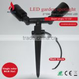 Double Lamp Al Body Ip54 Ce Rohs Are Approved Waterproof Outdoor Spotlighting For Garden/park