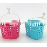 Plastic storage basket/Handle basket/Mini baskets/Sundries Basket/Heart Shaped basket/small basket/kid basket/Single handle