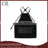 Hign Quality Canvas Haircut Apron with Cross Black Leather Strap for Wholesale                                                                         Quality Choice