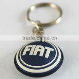 Promotion !!! the car brand design silicone key chain for FIAT