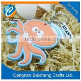 business anniversary gifts nice key chain with devilfish shape in cute look for advertising with your logo