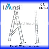 Alibaba China Supplier 5.8m aluminium step ladder en131 telescopic ladder extension ladder attic ladder