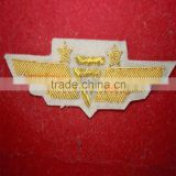 US civil airline pilot wing badge midway airways made with bullion wire | Goldwork bullion badges