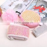 OEM a set of colorful plastic mesh bath sponge and bath ball with beautiful package can as gift