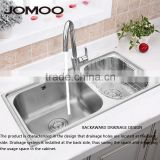 JOMOO stainless steel kitchen sink Brush finish double bowl kitchen sink,SUS304 sink body