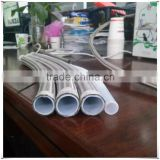 Teflon hose / PTFE hose with SS304 braiding cover Outside color cotton teflon tube