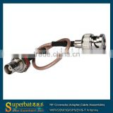 Cable Assembly /Jumper Wire RG316 Pigtail BNC Male to BNC Female 15cm
