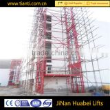 Heavy duty hydraulic guide rail lifter chain type hydraulic freight elevator for industrial building
