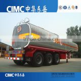 3 - axle 40CBM Fuel Oil Tanker / Oil Diesel tanker Transport Truck Semi Trailer for sale