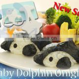 baby 3d cake molds kitchenware decoration products gift lunch box bento box cook tools rice ball molds set baby dolphin onigiri