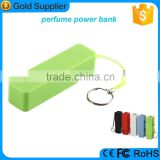 bulk buy from china perfume portable charger external battery power bank 2600amh