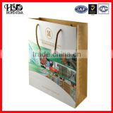 Customize eco-friendly twist paper handle resuable bag,paper craft bag,brown paper bags printing