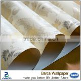 pure white solid color water ink printing non woven paper wallpaper new design decorative wall covering