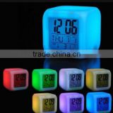 New design 7 Color change Digital alarm clock / glowing led color change clock / led table clock