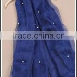 180CM*65CM Cotton Blue Scarf , Organza And Silk Cotton Blue Scarf