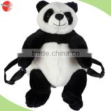 "Cute Cartoon Animal Custom Plush children school bag 16"" Panda Plush Stuffed Animal Backpack"