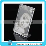 custom slanted L desktop picture table frame stand acrylic picture frame display stand for sale