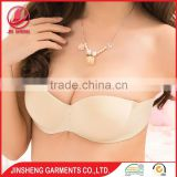 High quality silicone free sample push up backless bra in China