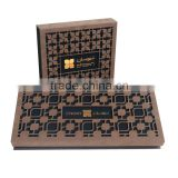 Luxury laser cut chocolate box with gold stamping Logo