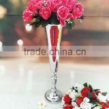 silver vase for wedding table centerpiece/tall vase wedding/wedding vase crystal centerpieces wholesale