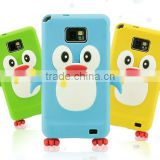 2012 hot selling new style silicone case for samsung galaxy s2