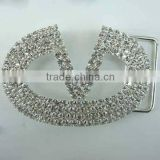 Hot sales Unique Designs Popular Crystal Decorative Belt Buckle with Rhinestone for Garment Accessory in Bulk