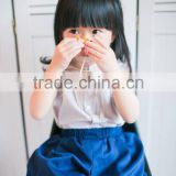 Korean children's short-sleeved princess dress girls in jeans denim fashion girls dress