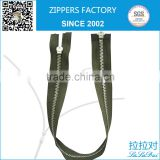 High end custom design double head two way metal zipper