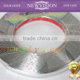 Car Chromium Styling strip/4mm*15m/Auto accessories exterior decoration silver chrome strip trim