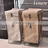 Alibaba supplier laundry product Linen cotton storage organizer basket for Dirty clothes