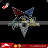 Wholesale T Shirt Bling Hotfix OES Rhinestones Transfer Sistars Design in Vinyl