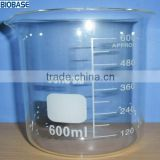glass beaker, boro3.3, 25ml~1000ml--High and low form available, with spout, high purity, larger than 99.99%