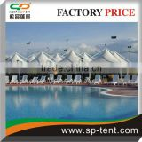 5x5m gazebo canopy tents for multipurpose sports events conneced together by the use of integrated rain gutters