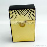 plastic cigarette case for 20s kind size 85mm cigarette pack holder with gold embossed sticker