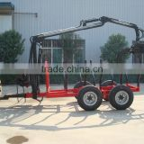 1Ton/3Ton forestry atv timber trailer with crane