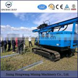 2017 HW Highway Guardrail Diesel Hydraulic Fence Post Pile Driver with hydraulic hammer for Sale