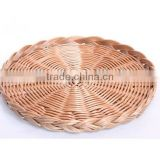 wholesale round flat plastic rattan basket plastic basket for fruit plastic bread basket